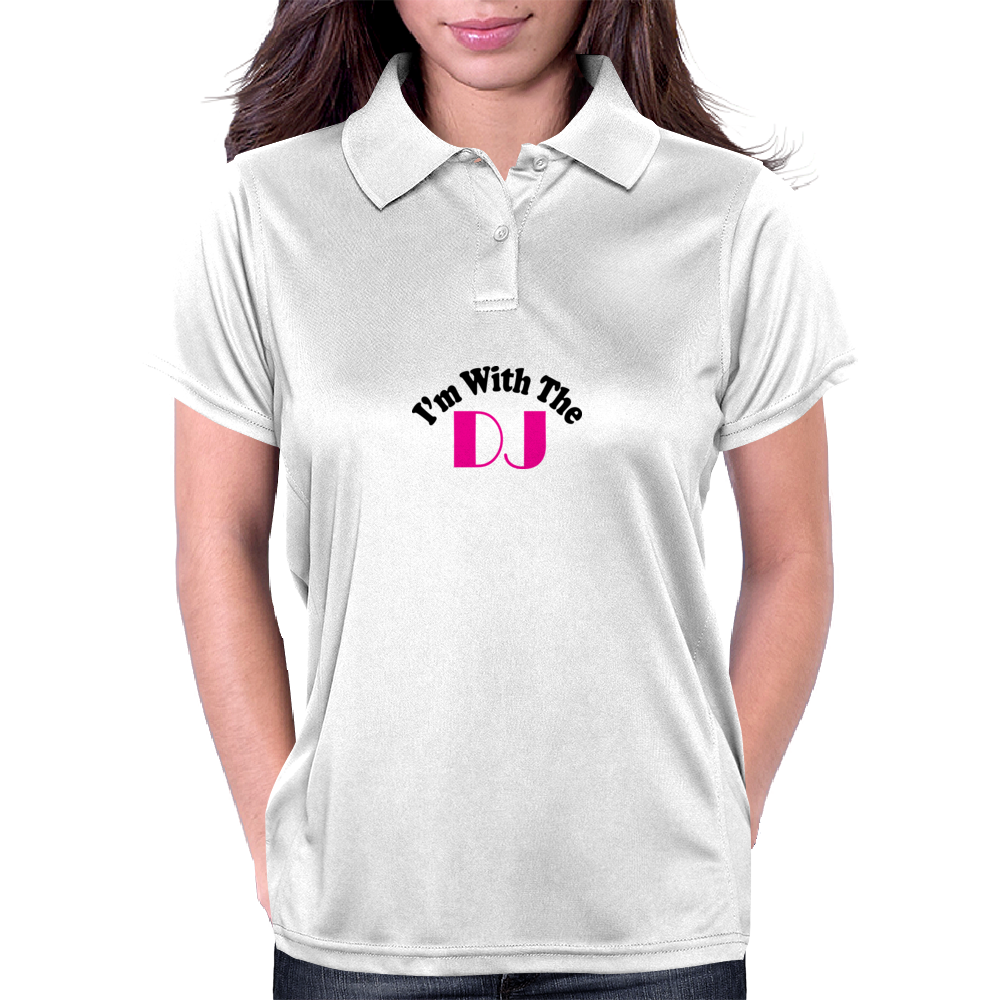 I'm With The DJ Womens Polo
