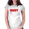 I'M WITH THIS IDIOT FUNN Womens Fitted T-Shirt