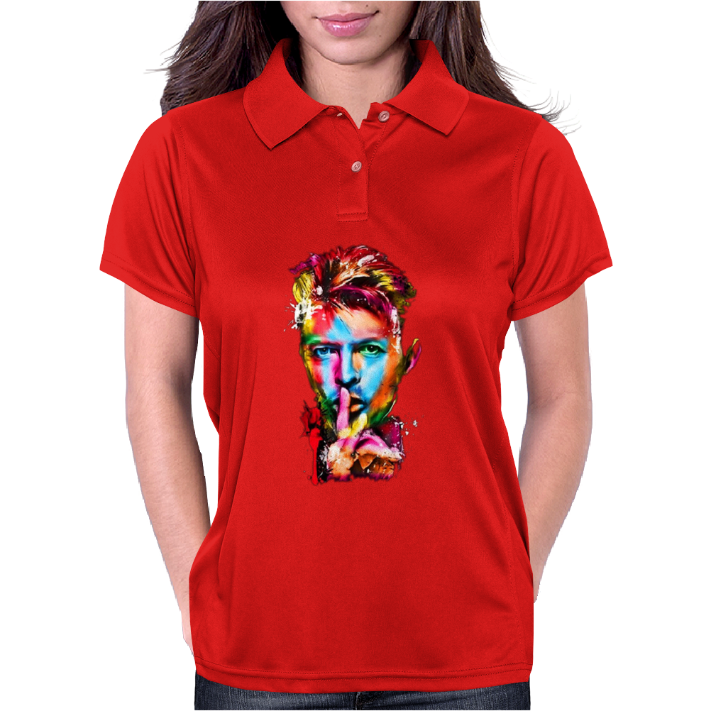 In Memory David Bowie Womens Polo