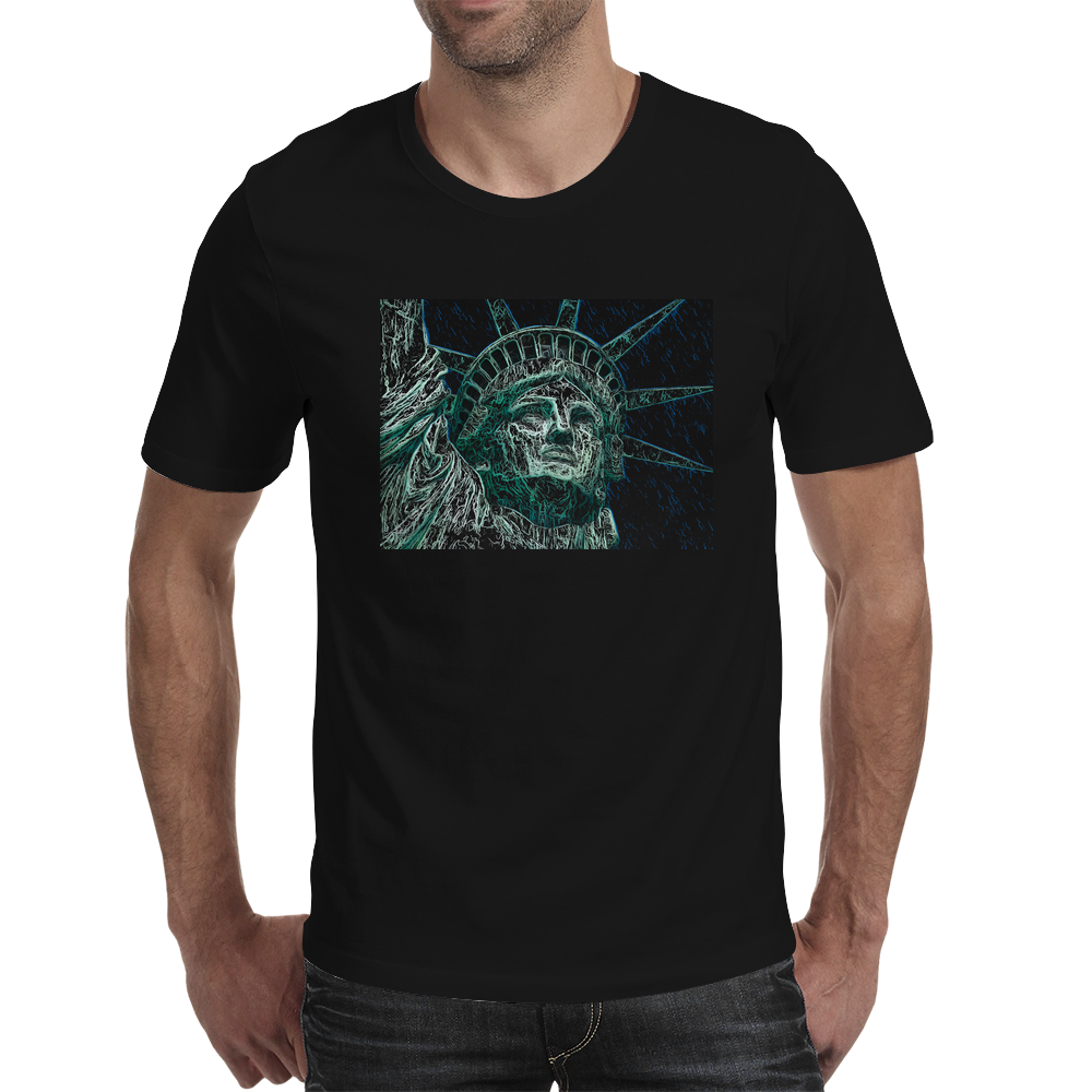 Incredible Lady Liberty.  Statue of Liberty, New York City Mens T-Shirt