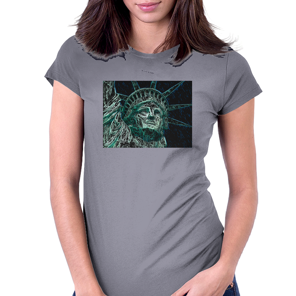 Incredible Lady Liberty.  Statue of Liberty, New York City Womens Fitted T-Shirt