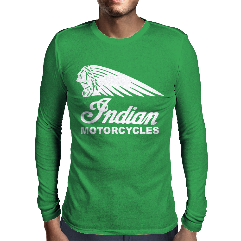 INDIAN MOTORCYCLES MOTOR CYCLE RETRO CLASSIC BIKE VINTAGE Mens Long Sleeve T-Shirt