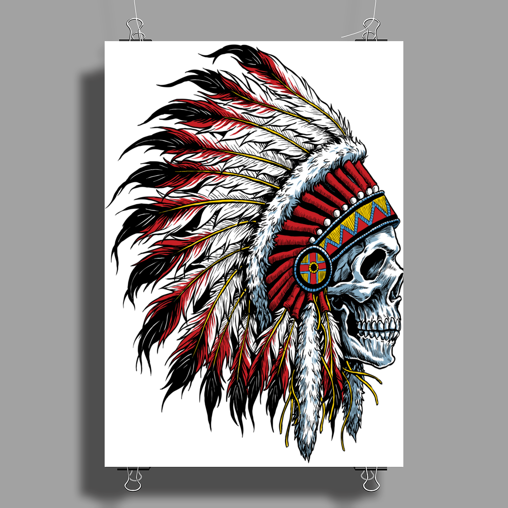 INDIAN / SKULL Poster Print (Portrait)