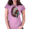 INDIAN / SKULL Womens Fitted T-Shirt