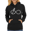 Infinity Knot Anchor Rope Womens Hoodie