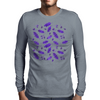 Ink Oak Leaves and Acorns Mens Long Sleeve T-Shirt