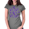 Ink Oak Leaves and Acorns Womens Fitted T-Shirt