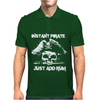 Instant Pirate Just Add Rum Funny Mens Polo