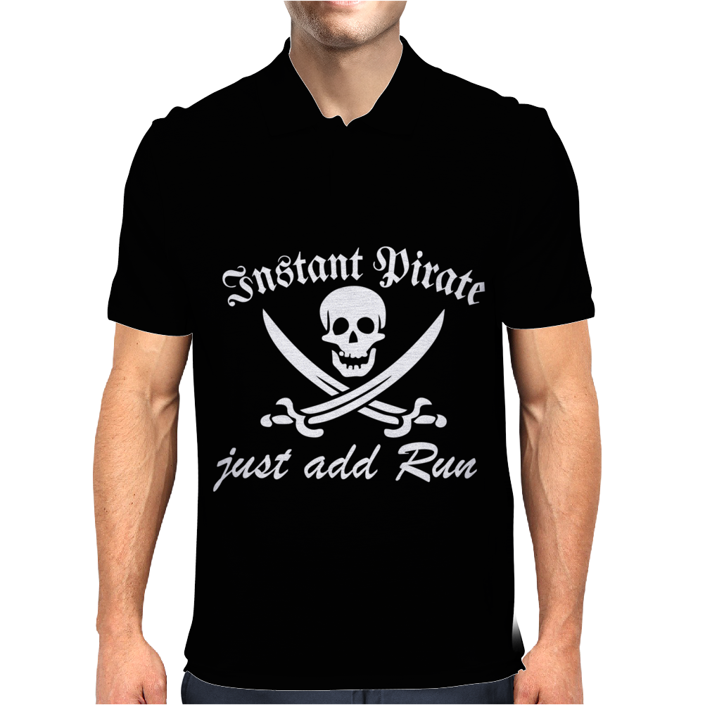 Instant Pirate Just Add Rum Mens Polo