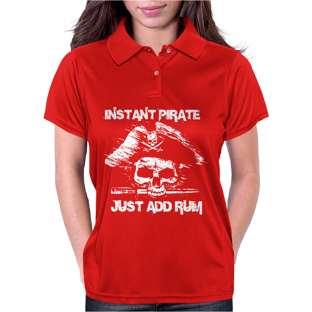 Instant Pirate Just Add Rum Womens Polo