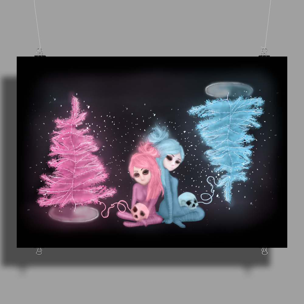 Intercosmic Christmas by Rouble Rust Poster Print (Landscape)
