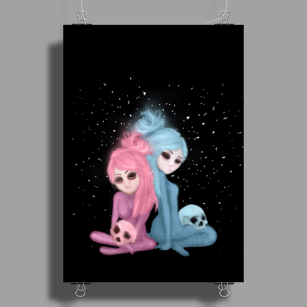 Intercosmic Christmas by Rouble Rust Poster Print (Portrait)