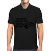 Internet Killed The Video Store Mens Polo