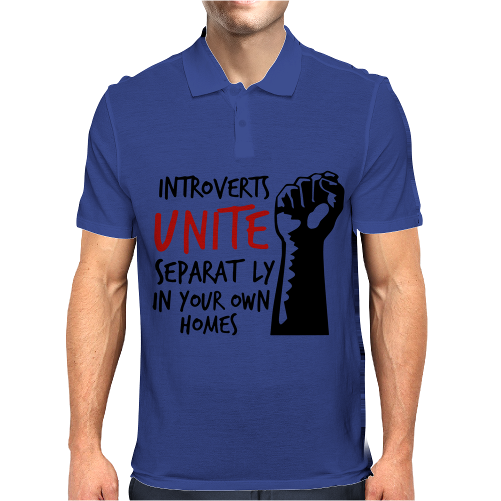 Introverts Unite Separately at Home Mens Polo