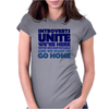 Introverts Unite! We're here, we're uncomfortable, and we want to go home Womens Fitted T-Shirt