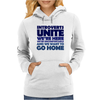 Introverts Unite! We're here, we're uncomfortable, and we want to go home Womens Hoodie