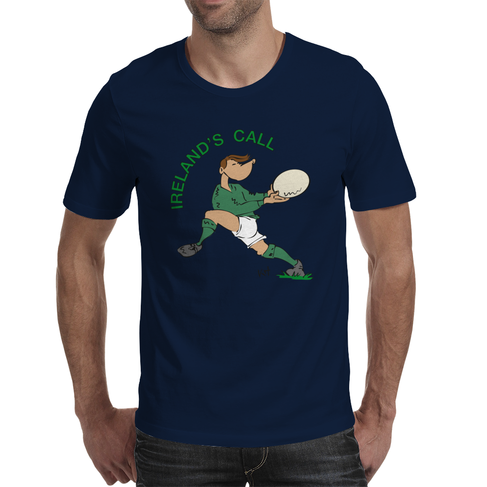 Ireland Rugby Back World Cup Mens T-Shirt
