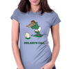 Ireland Rugby Kicker World Cup Womens Fitted T-Shirt