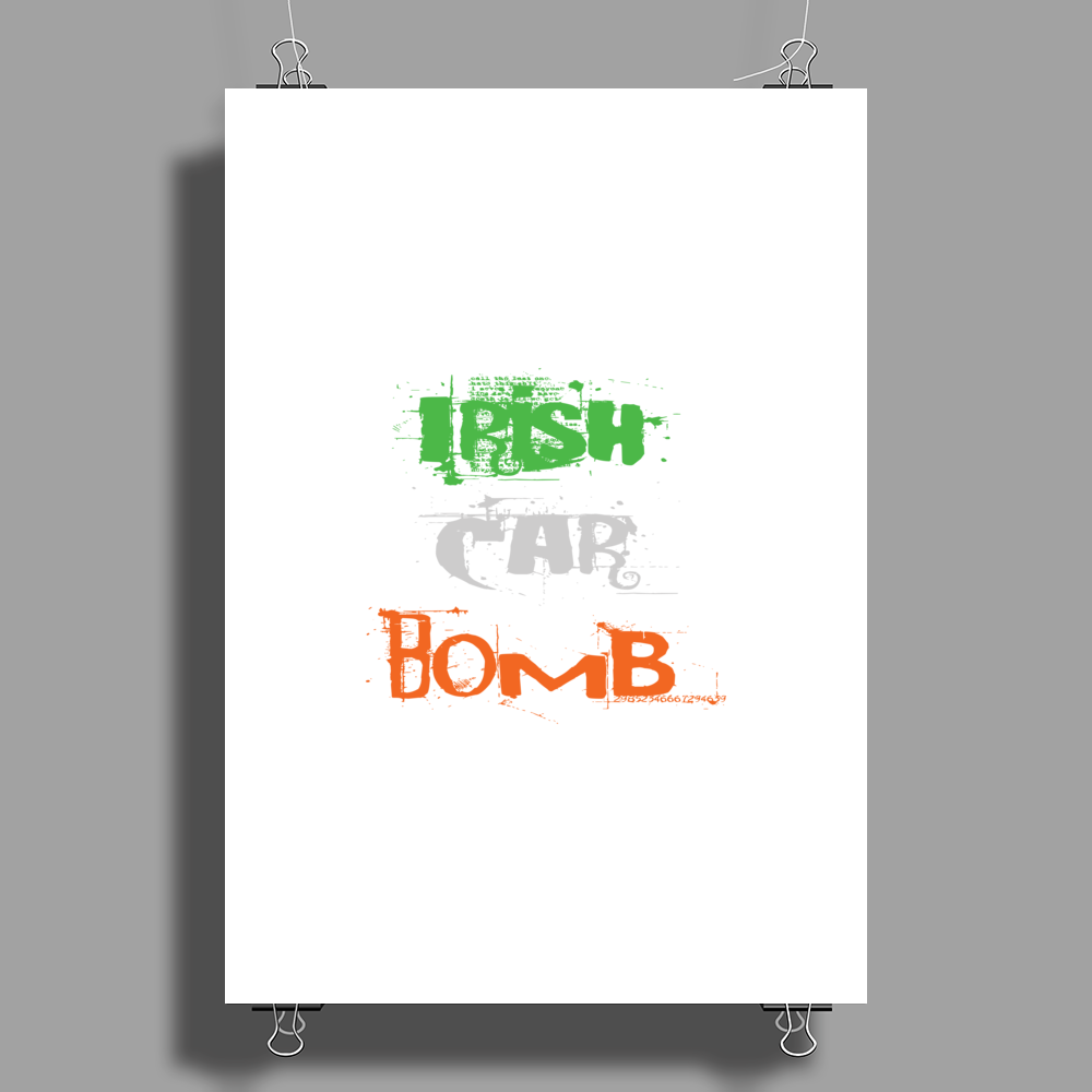 Irish Car Bomb. Poster Print (Portrait)
