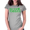 irish maiden kiss me iron or green Womens Fitted T-Shirt