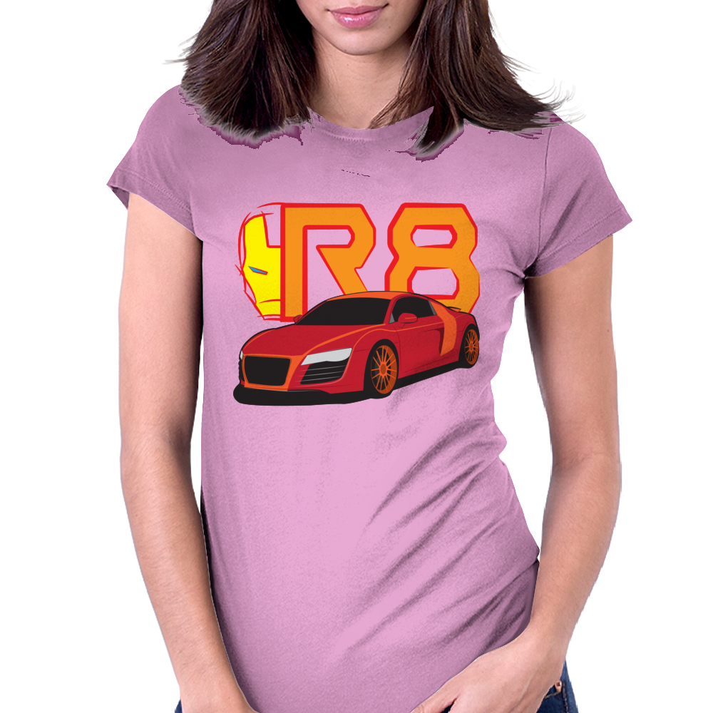 Iron Audi R8 Womens Fitted T-Shirt