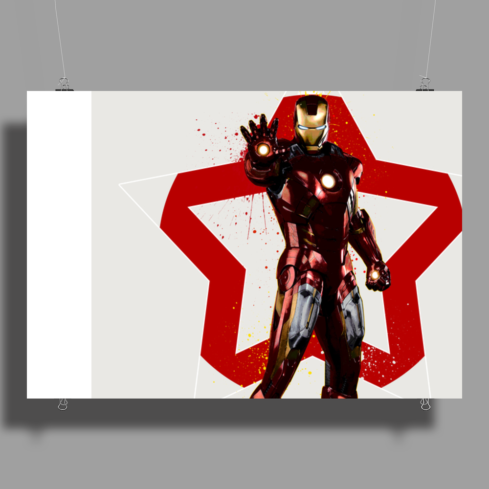 Iron Man Avengers poster Poster Print (Landscape)