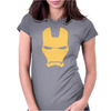Iron Man Face Womens Fitted T-Shirt