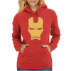 Iron Man Face Womens Hoodie