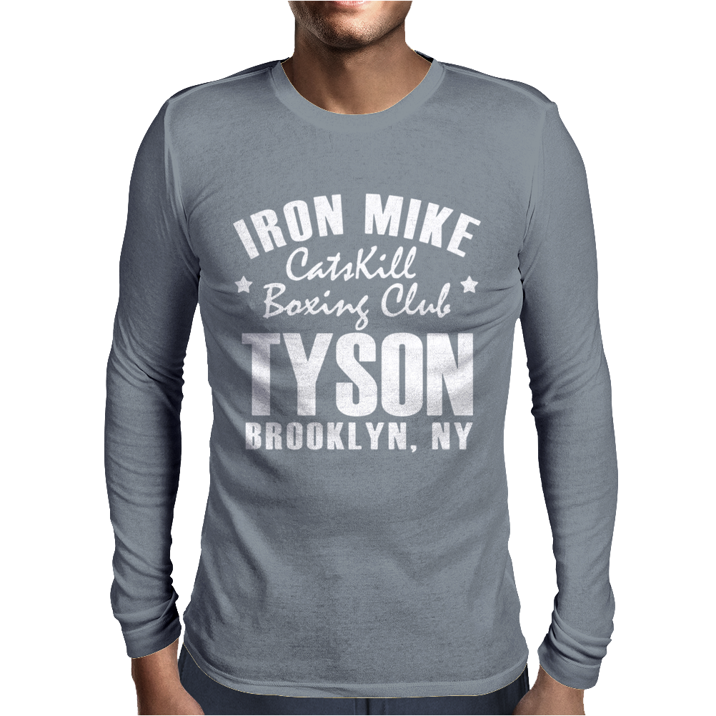 Iron Mike Tyson Catskill Boxing Club Mens Long Sleeve T-Shirt