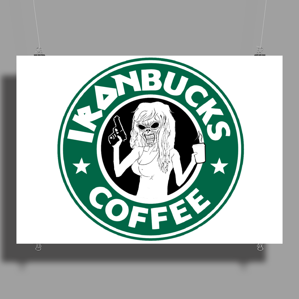 Ironbucks Coffee Poster Print (Landscape)