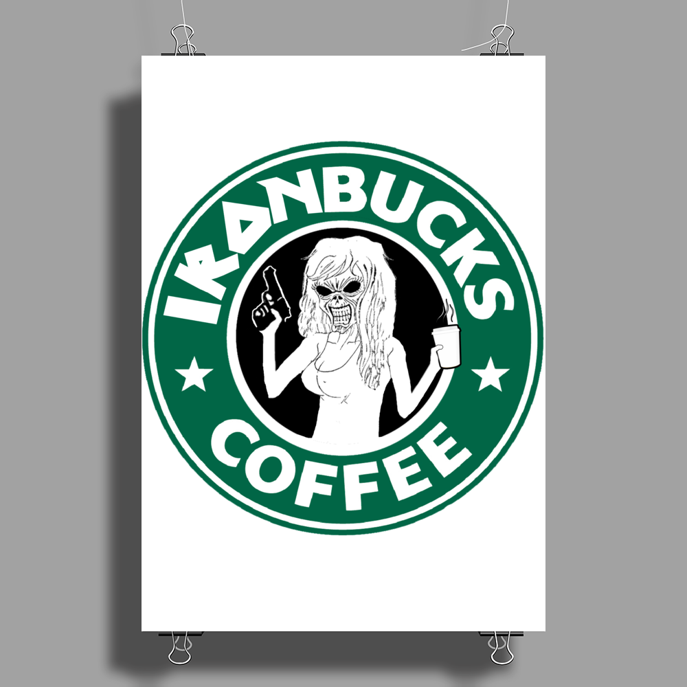 Ironbucks Coffee Poster Print (Portrait)