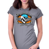 Ironworker Skull and Flaming Crossed Spud Wrenches 1 Womens Fitted T-Shirt