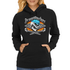 Ironworker Skull and Flaming Crossed Spud Wrenches 1 Womens Hoodie