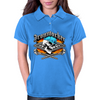 Ironworker Skull and Flaming Crossed Spud Wrenches 1 Womens Polo