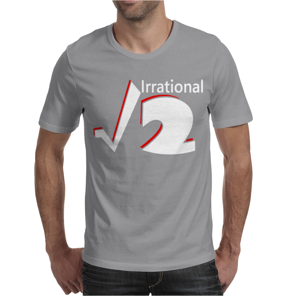 Irrational Numbers Mathematics Geek Square root of 2 Mens T-Shirt