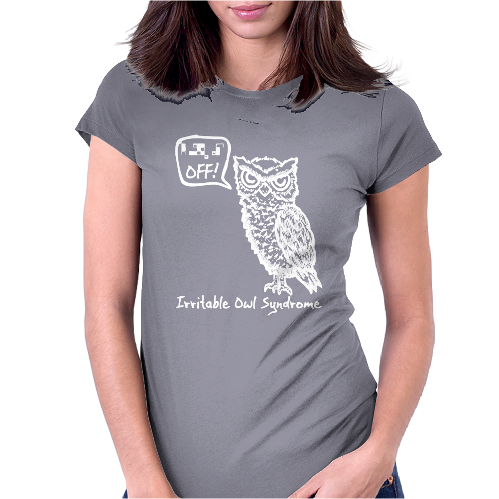 Irritable Owl Syndrome Womens Fitted T-Shirt