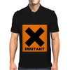 Irritant Symbol Joke Mens Polo