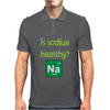 Is sodium healthy?  Periodic table design. Mens Polo