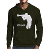 iShoot - camera photographer trained shooting funny gun photo gift tee Mens Hoodie