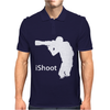 iShoot - camera photographer trained shooting funny gun photo gift tee Mens Polo
