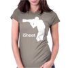 iShoot - camera photographer trained shooting funny gun photo gift tee Womens Fitted T-Shirt