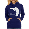 iShoot - camera photographer trained shooting funny gun photo gift tee Womens Hoodie