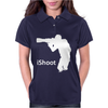iShoot - camera photographer trained shooting funny gun photo gift tee Womens Polo