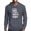 It takes two to make it outta sight Mens Hoodie