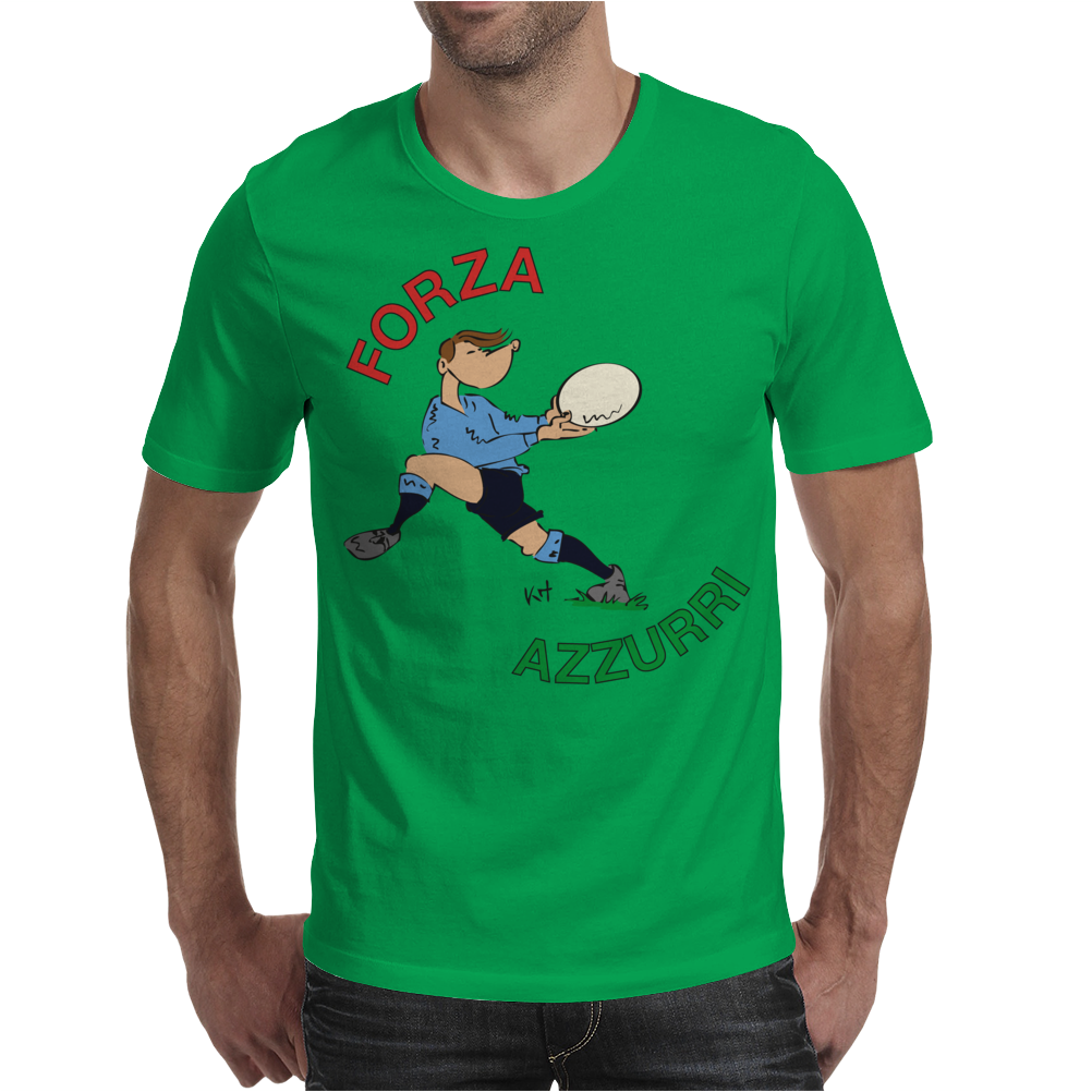 Italy Rugby Back World Cup Mens T-Shirt