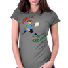 Italy Rugby Back World Cup Womens Fitted T-Shirt