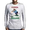 Italy Rugby Kicker World Cup Mens Long Sleeve T-Shirt