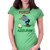 Italy Rugby Kicker World Cup Womens Fitted T-Shirt
