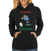 Italy Rugby Kicker World Cup Womens Hoodie