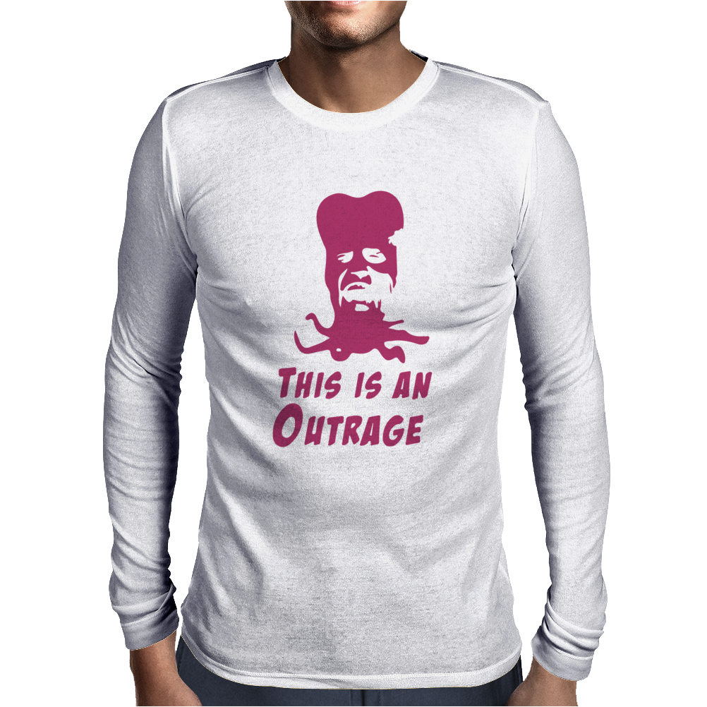 It's An Outrage Mighty Boosh Inspired Mens Long Sleeve T-Shirt